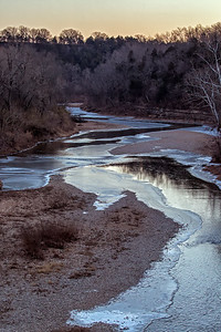 Frozen Kings River in Grandview Arkansas