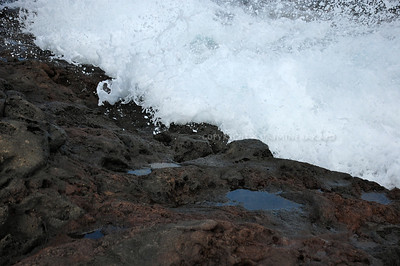 Waves rush onto rocks, Maui Limited Edition