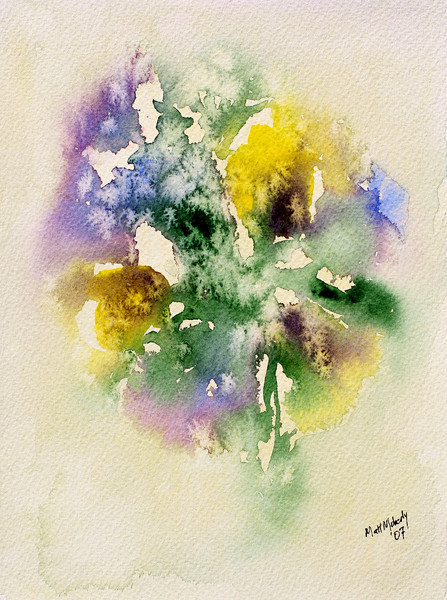 "Pansy Panic, watercolor, 5"" x 7"""