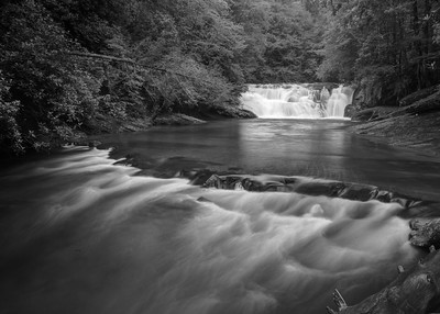 Waterfalls in Black and White