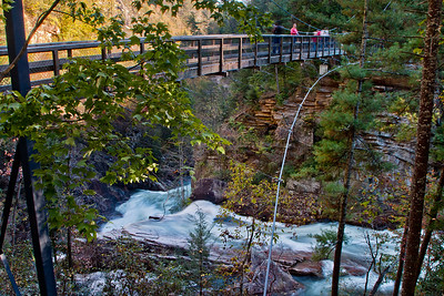 Footbridge across top of Hurricane Falls