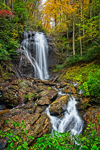 """Anna Ruby Falls - York Creek Side"""