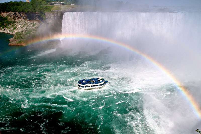 Niagara Falls showing the Canadian Horseshoe Falls