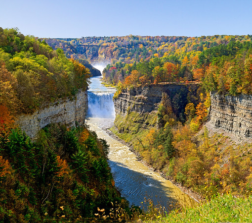 Letchworth State Park from Inspiration Point
