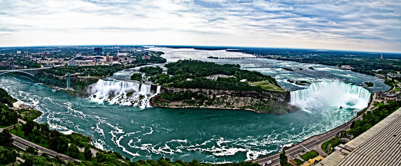Niagara Falls showing the American and Canadian Horseshoe Falls. Looks great printed on a metallic paper.