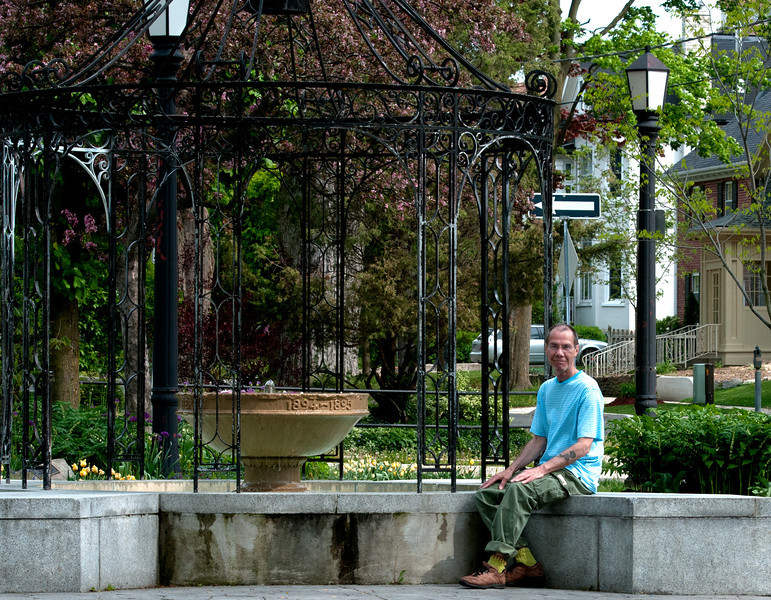 Me inThe Little Park, Kitchener, Canada  -named Berlin until the First World War