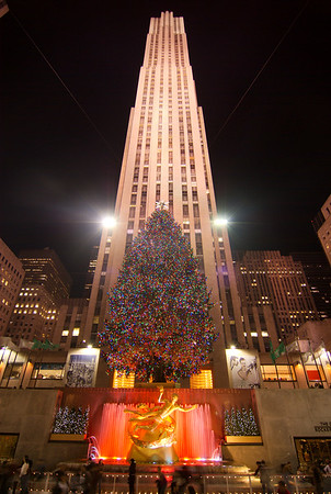 Rockefeller Center at Christmas,  New York *All images are available for download*  Check out the shopping cart...  The symbol '©' on the photos DOES NOT PRINT.