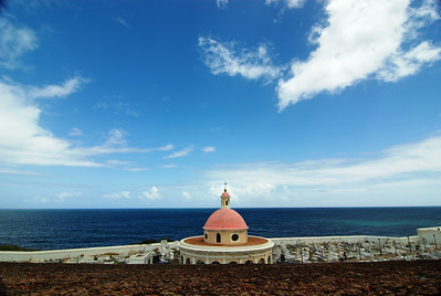 View of San Juan's Neoclassical Chapel Fort San Cristóbal, Puerto Rico  The symbol '©' on the photos DOES NOT PRINT.