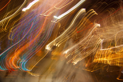 Motion Blurr of Rockefeller Center, NY  The symbol '©' on the photos DOES NOT PRINT.