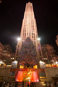 Rockefeller Center, New York Christmas  The symbol '©' on the photos DOES NOT PRINT.