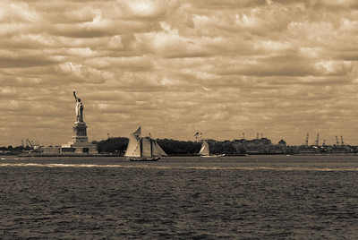 Statue of Liberty from Governors Island, NY  The symbol '©' on the photos DOES NOT PRINT.