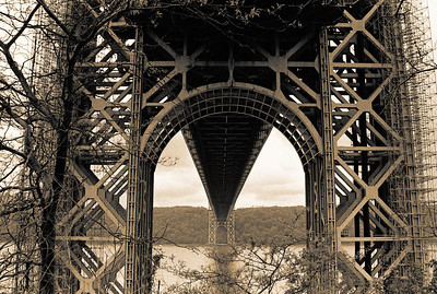 Below the George Washington Bridge  The symbol '©' on the photos DOES NOT PRINT.
