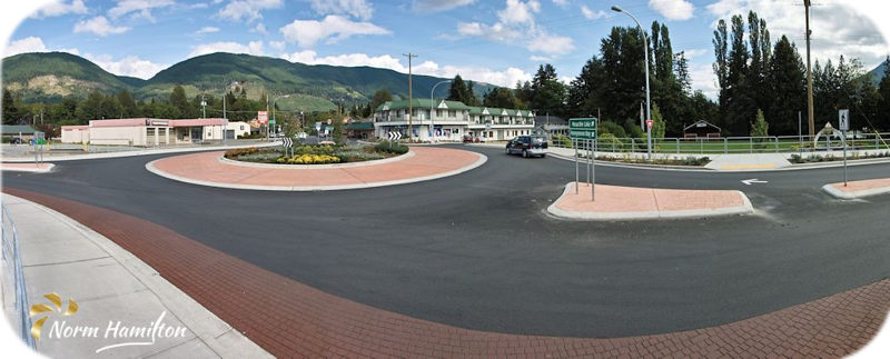 Roundabout in Lake Cowichan, B.C.