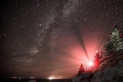 Bass Light Under the Milky Way, Bass Harbor, Acadia National Park, Me.