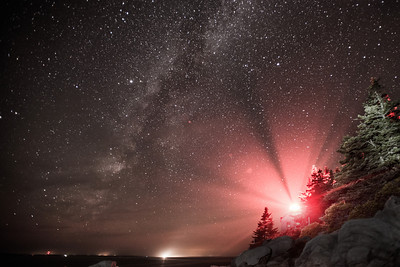 Bass Light Under the Milky Way, Bass Harbor, Acadia National Park, Me.