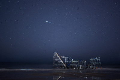 #367 Satellite Flare Over Coaster, Seaside Heights, NJ (post Hurricane Sandy).