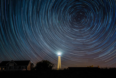 Star trail over the Cape May Lighthouse in Cape May, NJ.  06/01/14