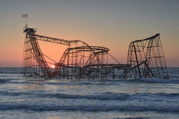 #315 Sunrise Coaster, Seaside Heights, NJ (Post Hurricane Sandy).