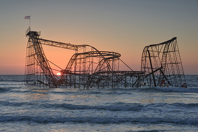 #315 Sunrise Coaster, Seaside Heights, NJ (Post Hurricane Sandy).