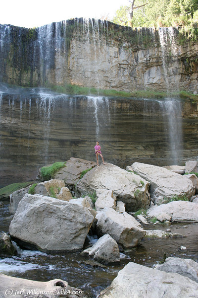 Webster's Falls, in Hamilton, Ontario, Canada<br /> (you get a sense of the scale from our ~5 ft tall daughter here.)