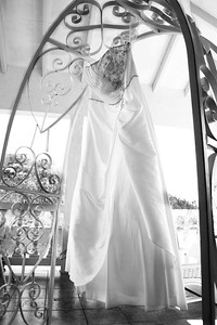 wedding dress black and white