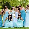 Bridal party at Edmonds, Washington wedding,  Holy Rosary Church