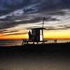 Lifeguard Hut at the Wedge in Newport Beach CA