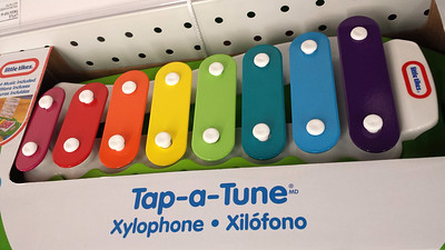 2013-12-22. X is for Xylophone, Xilofono. Taken with my Galaxy 4 at the store. Flipped the orientation.