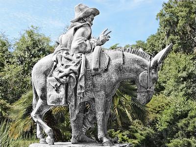 2013-11-03. Sculpture of Don Quixote. Brookgreen Gardens. South Carolina