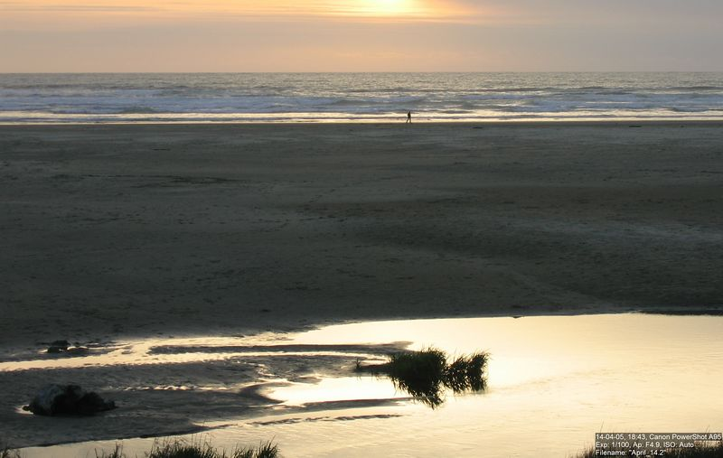 Almost sunset at Agate Beach