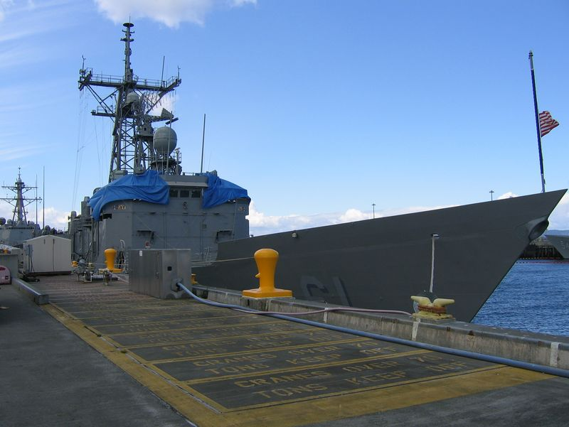 The bow of the USS Ingraham, FFG-61, Senior Chief Terry Schweizer's ship!