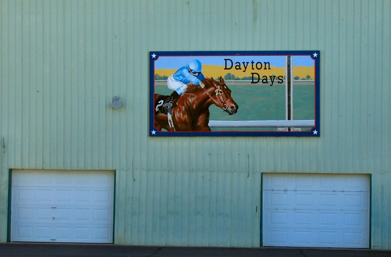 A cool sign at the Columbia County Fairgrounds, Dayton, Washington.