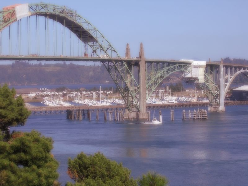 "A shot of the Yaquina Bay bridge, but I ""dreamified"" it a bit."