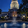 Capitol Fountain Blue Hour