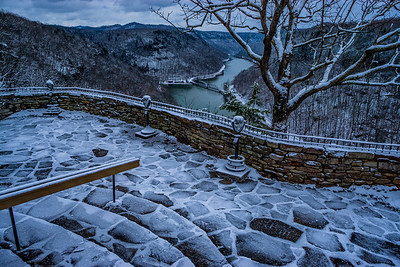 Hawks Nest Overlook Winter