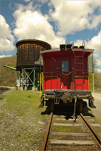 Caboose and Water Tower at Cass