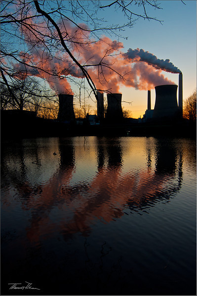 Cooling Towers at Sunset