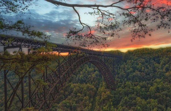 Gorge Bridge Sunset