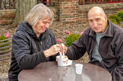 Susan & Bill Enjoy Custard From Whitt's