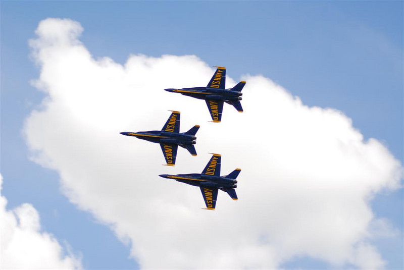 2008 June 27:  Day 2 with the Blue Angels.  Practice makes perfect!  Hoping for good weather tomorrow.