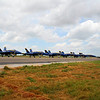 2008 June 28:  The 6 Blue Angels at the Airshow awaiting the flight to come.