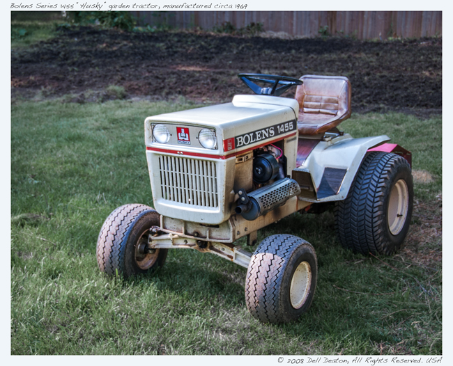 """Bolens Series 1455 """"Husky"""" lawn tractor, from late 1960s"""