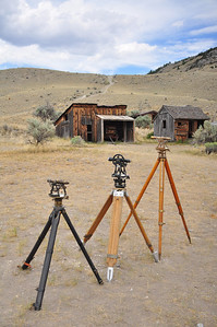 Antique Survey tools, Bannack Days, Bannack Ghost Town, Montana. 7.12