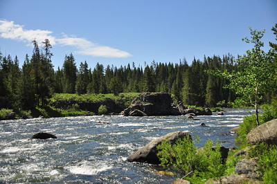 river near Ashton, Idaho. 7.12