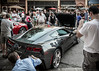 """New Chevrolet Corvette for 2014, as it appeared in downtown Ann Arbor, Michigan, at 2013 """"Rolling Sculpture Car Show.""""<br /> <br /> Photographed using Leica X2 digital camera with Elmarit 24mm f/2.8 lens; APS-C sensor (23.6mm x 15.8mm), 16.2 megapixels; set to f/5.6 at 1/50-second exposure, ISO 800; daylight. Composed for 7 x 5 aspect ratio; raw to jpeg. Processed in Adobe Lightroom 4.<br /> <br /> Photographic equipment: Norman Camera, Kalamazoo, Michigan<br /> <br /> July 12, 2013"""