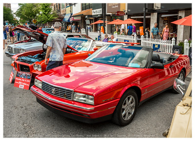 "Red Cadillac Allante Northstar, at 2013 ""Rolling Sculpture Car Show,"" Ann Arbor, Michigan"