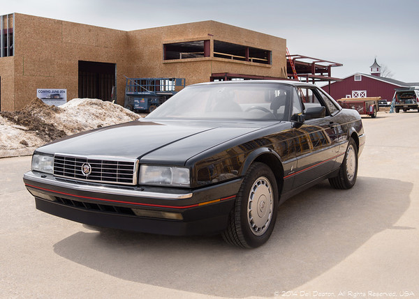 1990 Allante at Cadillac & LaSalle Museum construction site March 31, 2014