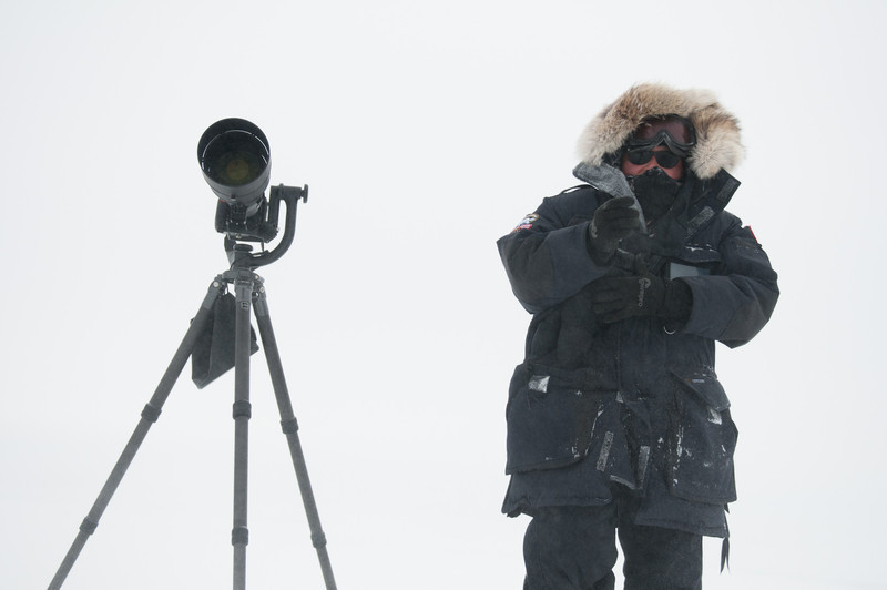 Photo: by Michael Spence<br /> <br /> It was very cold but I was warm with all that gear on.