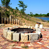 Handmade Fire Pit at Private Lake in Wichita Kansas