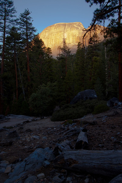 Sunrise lighting up Liberty Dome at Yosemite!